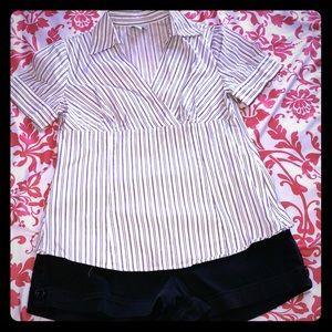Ann Taylor size 10 striped blouse